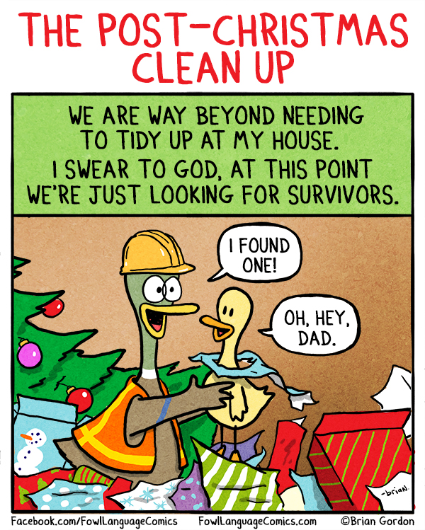 Post-Christmas Clean Up - Fowl Language Comics
