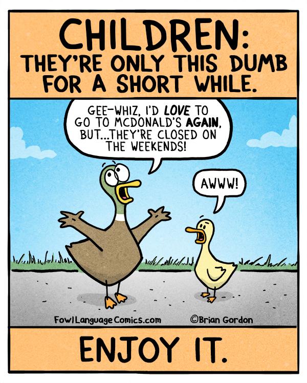 children dumb language fowl lying joke parents comics parenting humor comic again progressives parenthood saw hilarious days shared