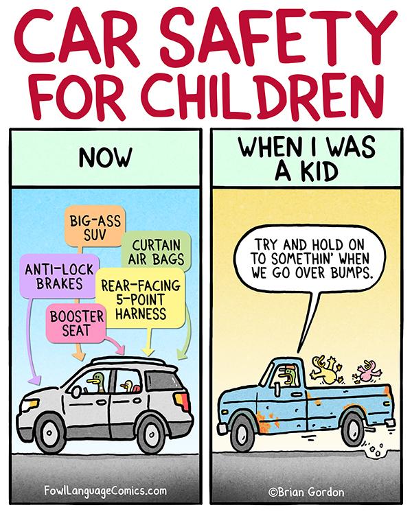 car safety fowl language comics