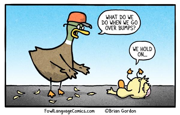 car safety bonus panel fowl language comics