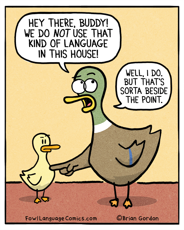 Foul language fowl language comics