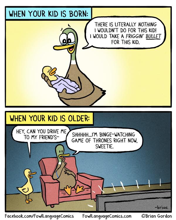 Funny Memes For Kids Cartoon : I d take a bullet fowl language comics